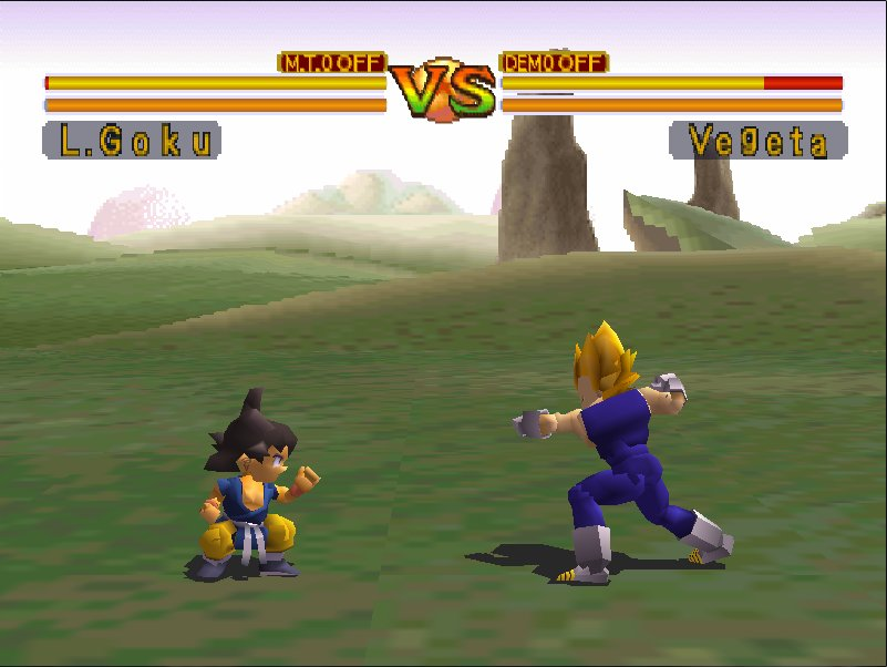 combat sangoku enfant contre vegeta dragon ball final bout ps1